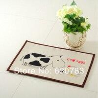 Free Shipping 1 Piece 40 60cm Cartoon Kilim Anti Slip Flax Mat Pattern Carpet Rug For