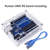 For Arduino Miroad Uno R3 Board ATmega328P With USB Cable Uno R3 Case Enclosure New Transparent