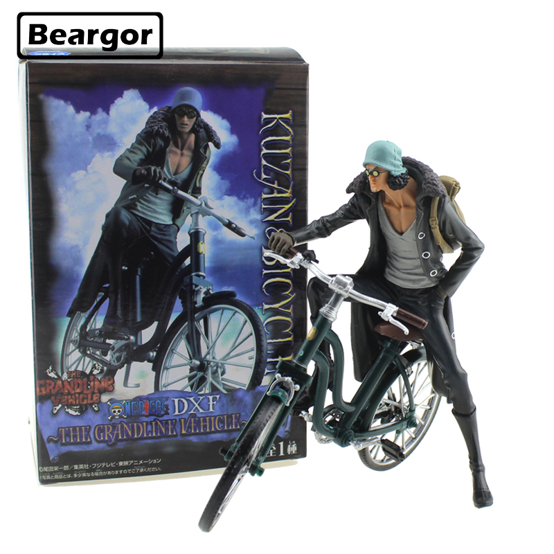 6 One Piece Navy Senior General Aokiji Kuzan On Bicycle Boxed 15cm PVC Anime Action Figure Collection Model Doll Toys Gift image