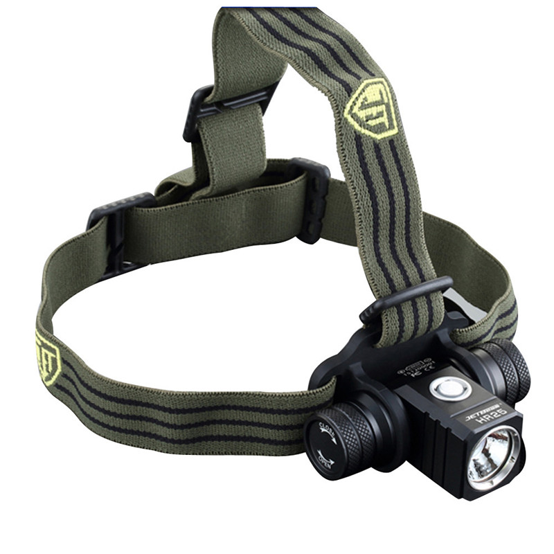 2018 JETbeam HR25 Cree XM L2 800lumens Rechargeable LED Headlamp with 18650 battery Safety Survival Z1026