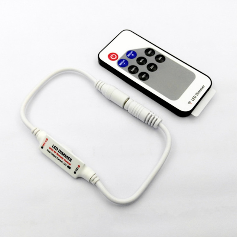 FäHig R107-d Mini Rf Einzigen Farbe Controller 9 Tasten Fernbedienung R107 Rf Wireless-led Dimmer; Dc5-24v Für 5050 3528 Einzelne Farbe Streifen Licht Rgb-controller