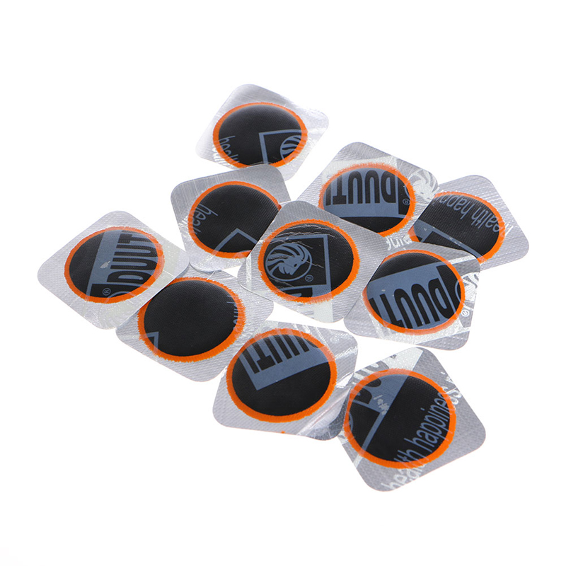 10Pcs 25mm Bicycle Bike Repair Fix Kit Flat Rubber Tire Tyre Repair Patch Kit Cycling Tools
