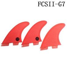 FCS2 G7 Surfboard Fins Red 3pcs/set Blue Tri-Set Honeycomb FCSII Fin Surf Quilhas