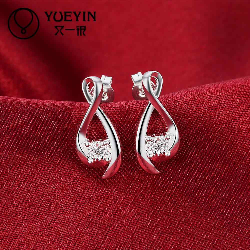 2016 New coming Silver plated earrings Romantic jewelry long earrings for female High Quality Christmas gifts nausnice