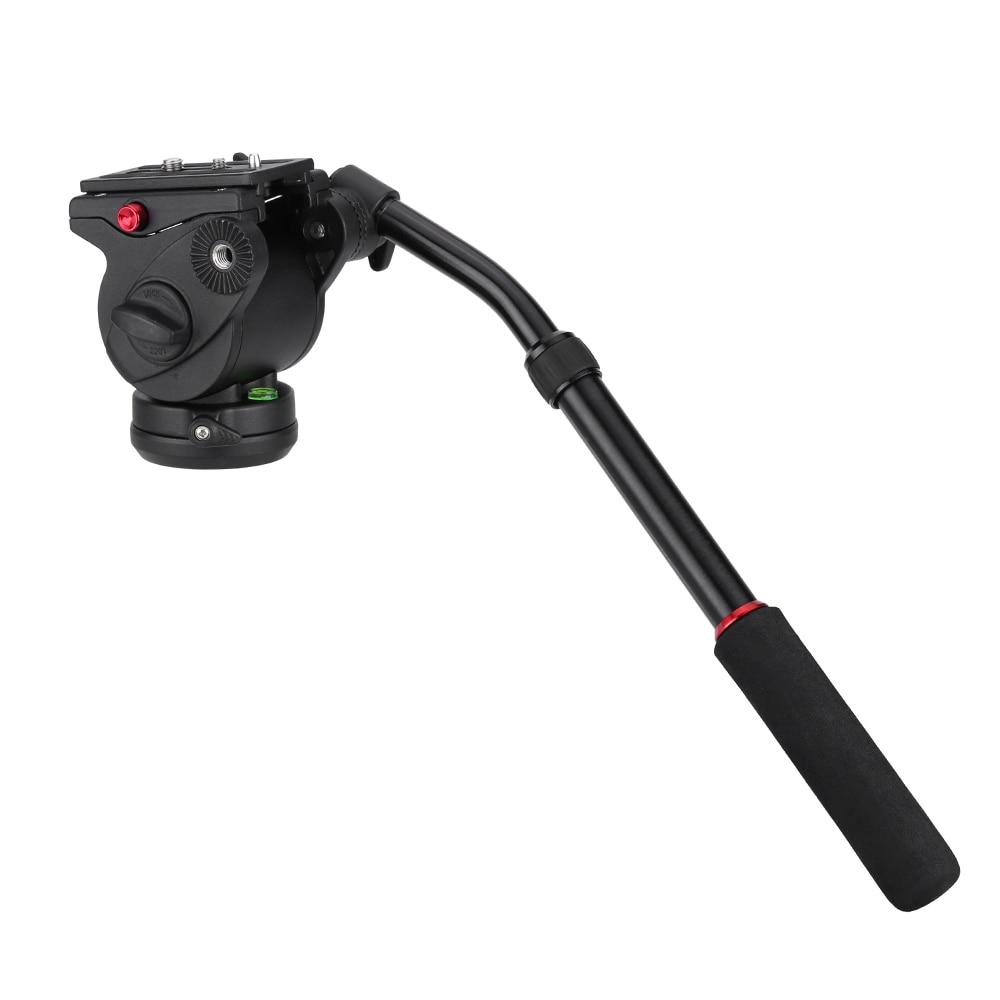Фотографии камеры DSLR жидкости перетащите наклона пан демпфирования мяч головой ручка-быстрое освобождение для штатива монопод слайдер железнодорожный