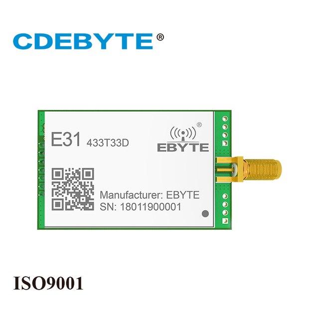E31 433T33D AX5043 UART 433 mhz 2W SMA Antena de Longo Alcance Monte uhf Transceptor Sem Fio 433 mhz Receptor Transmissor rf módulo