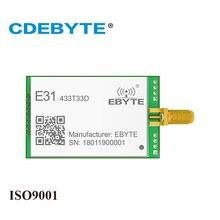 E31 433T33D UART de largo alcance AX5043 433 mhz 2W SMA antena IoT uhf transceptor inalámbrico 433 mhz transmisor receptor Módulo de radiofrecuencia