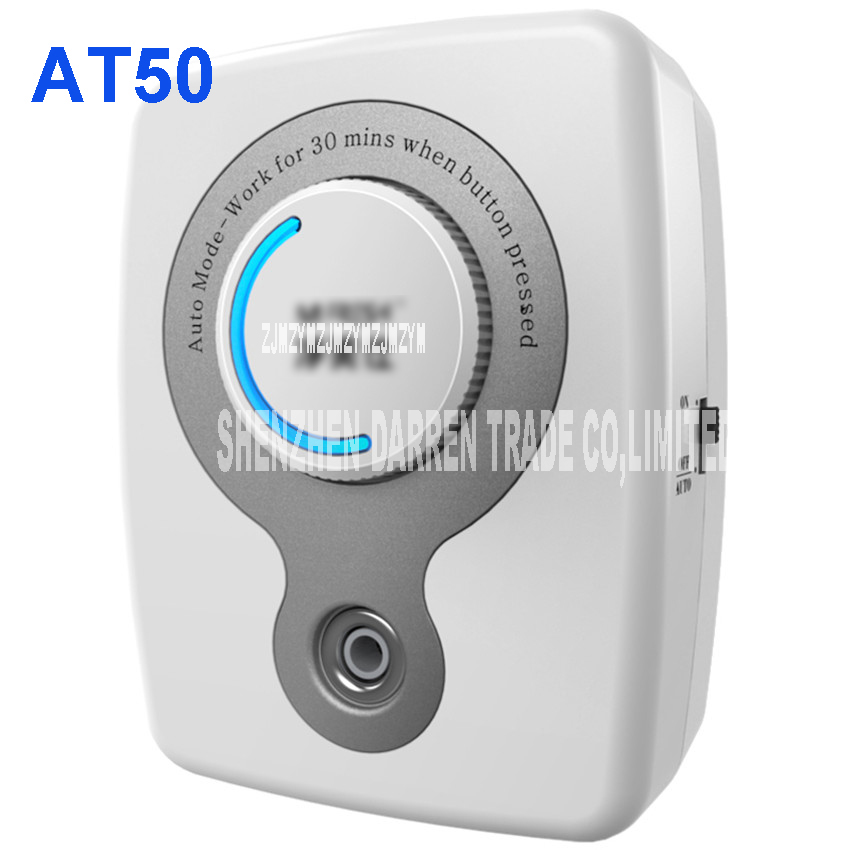 AT50 Ozone Generator 110V-240V Ozonator Wheel Timer Air Purifiers Oil Vegetable Meat Fresh Purify Air Water цена