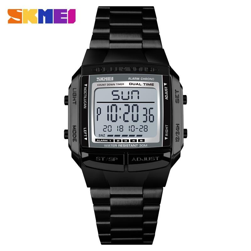 лучшая цена SKMEI Military Sports Watches Waterproof Mens Watches Top Brand Luxury Clock Electronic LED Digital Watch Men Relogio Masculino