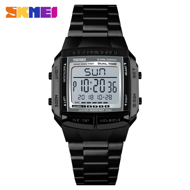 SKMEI Military Sports Watches Waterproof Mens Watches Top Brand Luxury Clock Electronic LED Digital Watch Men Relogio Masculino