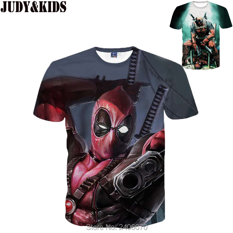 Teenager boy t shirt children summer kids clothes deadpool 3d t-shirt teens boy tees tops 3d sweatshirt superhero costume-0