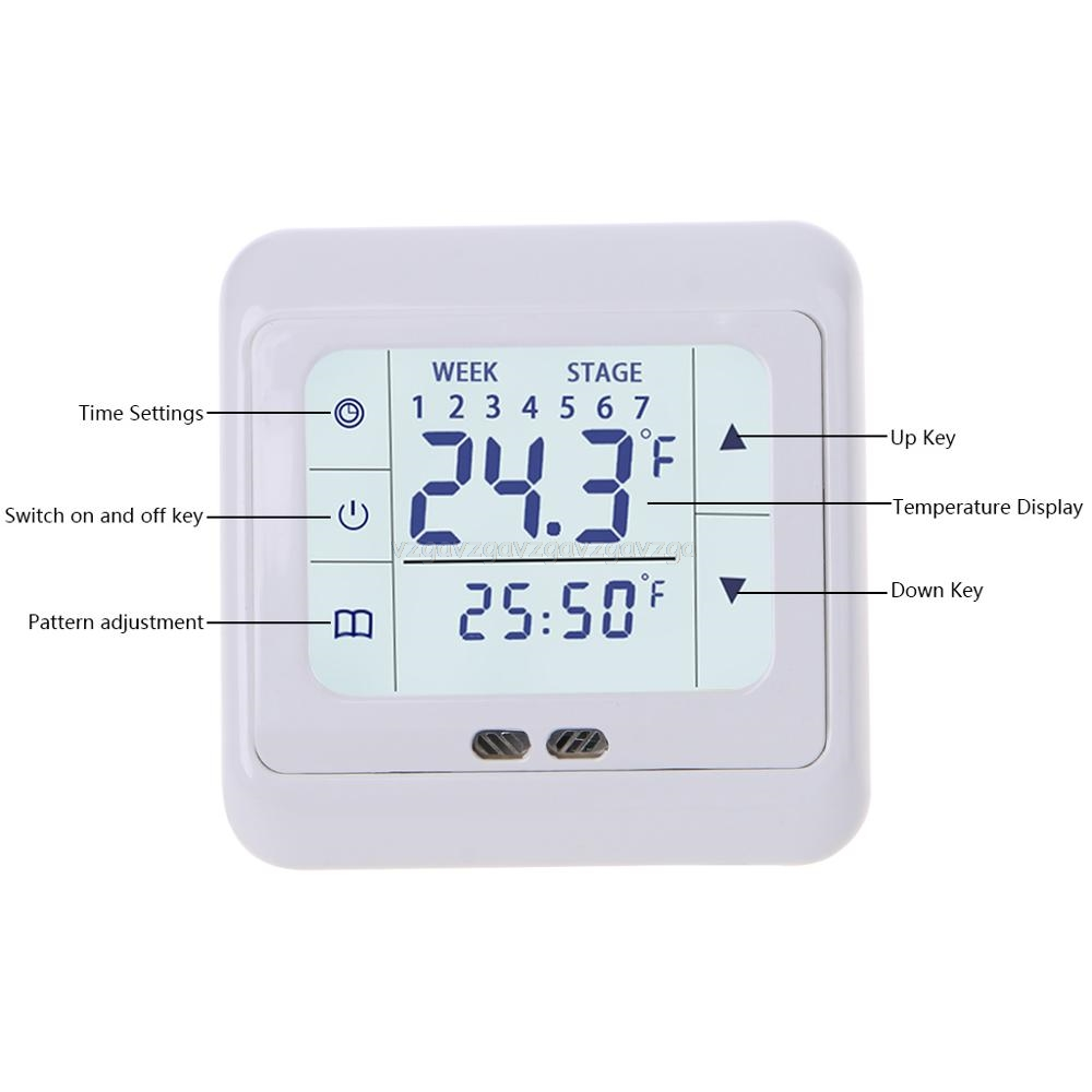 Thermoregulator Touch Screen Heating Thermostat For Warm Floor,Electric Heating System Temperature Controller With Kid Lock My17