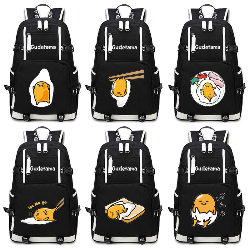 NEW Gudetama Backpack Anime Cosplay Cartoon Funny eggs women shoulder travel bag men schoolbag Teenage Girl