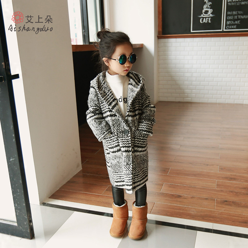 ФОТО Winter kids jacket Children's Spring autumn coat fashion baby coat girl's outfits baby jacket windbreaker for girls wool coat
