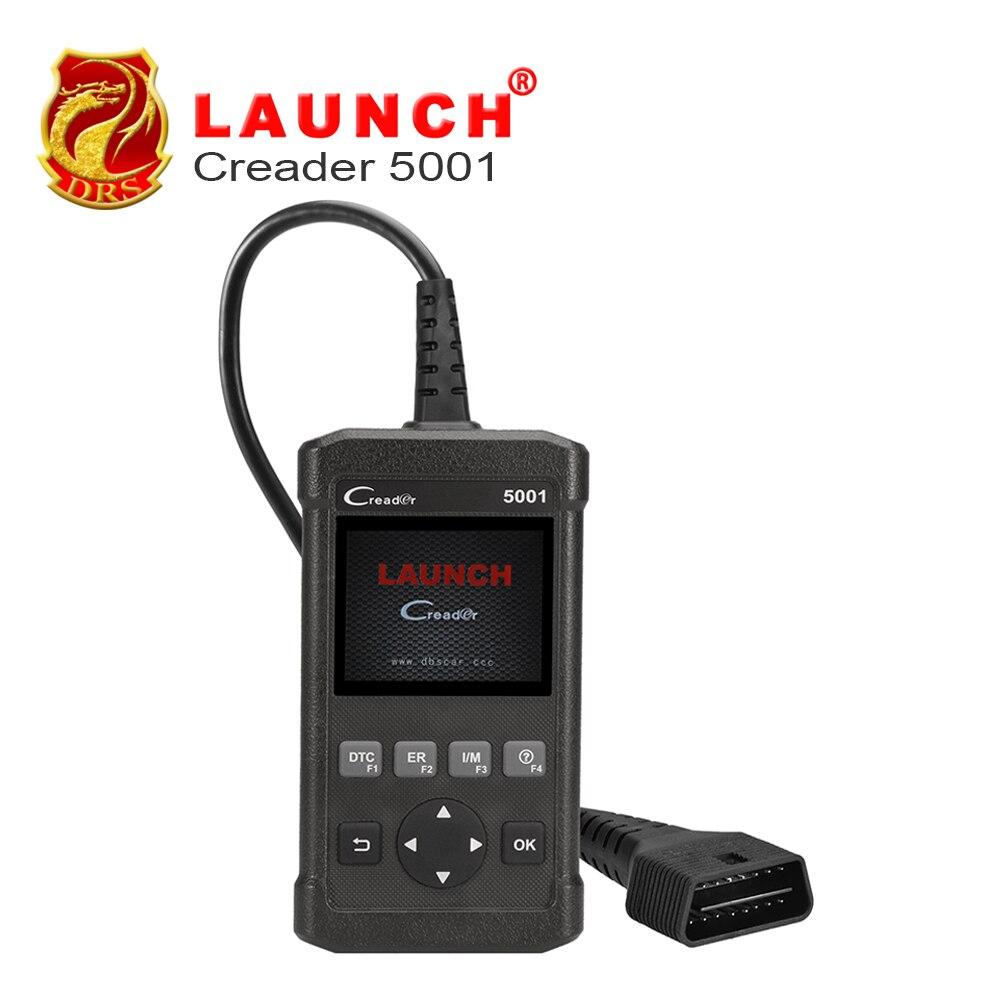 Prix pour Original launch creader 5001 obdii (peut/obdii/eobd) outil de diagnostic mise à jour gratuite de usb scanner code creader pour bmw/benz/vw