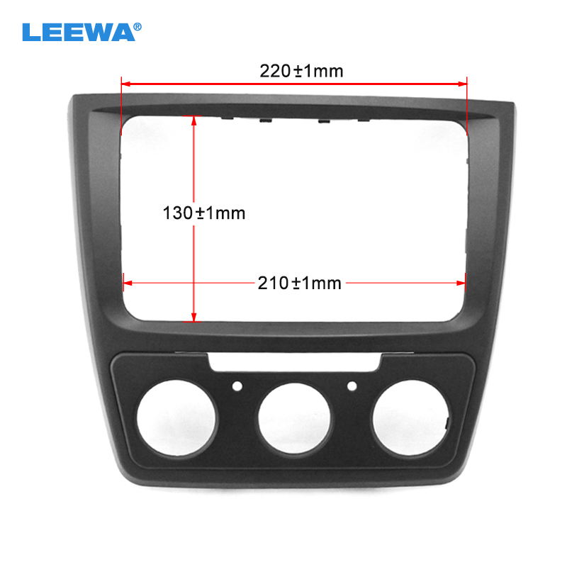LEEWA Car refitting DVD frame DVD panel Dash Kit Fascia Radio Frame Audio frame for Skoda yeti (Manual AC) #CA1887 free shipping car refitting dvd frame dvd panel dash kit fascia radio frame audio frame for 2012 kia k3 2din chinese ca1016