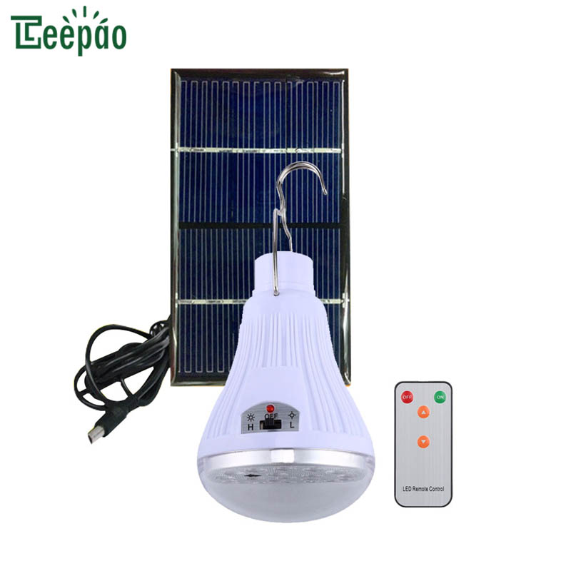 LED Solar Bulb Light Portable Solar Charged Outdoor Lighting Night Travel Tent Bulb Energy Saving Bulbs Lamp Camping Lighting