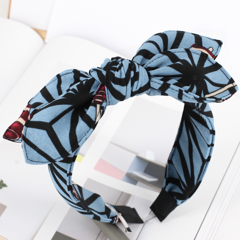 Xiacaier Women Flower Hairband Fabric Bow Knot Hair Hoop Rabbit Ears Headband for Headwear Women Hair Accessories