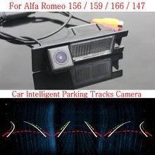 Автомобиль Интеллектуальные Парковка Треки Камеры ДЛЯ Alfa Romeo 156/159/166/147/HD Резервного копирования Камера Заднего Вида/Заднего вида камера