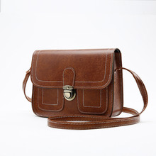 2017 New Leather Handbags Famous Brand Small Women Messenger Bags Female Crossbody Shoulder Bag Mini Clutch Purse Bag Candy Colo