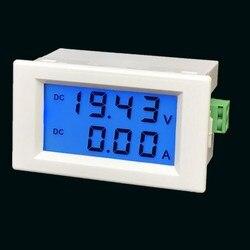 D85 3051 podwójny wyświetlacz DC200V 600V 10A 50A 100A cyfrowy wyświetlacz cyfrowy napięcie prądu stałego i prądu miernik w Manometry od Narzędzia na