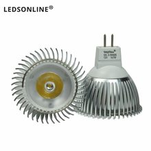 Ultra Bright 1W 12V MR16 G5.3 Spotlight Bulb Led Pure White 6000K lamp 6000K Aluminum Quality Guaranteed(China)
