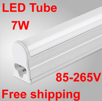 Free Shipping T5 Integrated LED Tube 600mm 7W 220V Light Tube Fluorescent Tube Warranty 2years White