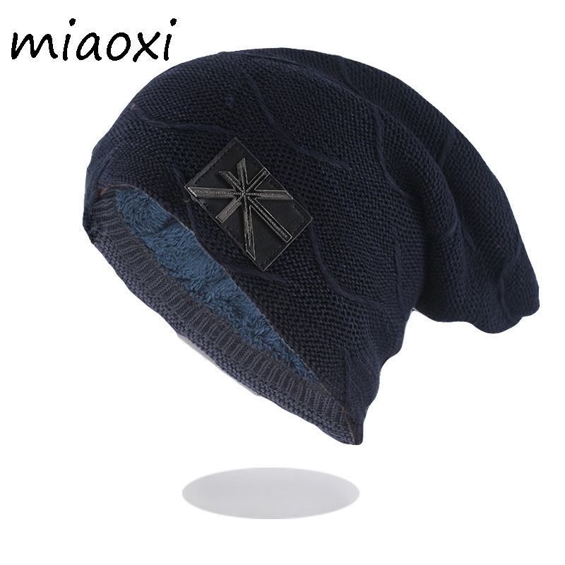New Meter Flag Men Winter Warm Wool Hat Cotton Knitted Casual Unisex   Beanies     Skullies   Brand Top Fashion Adult Bonnet Sale