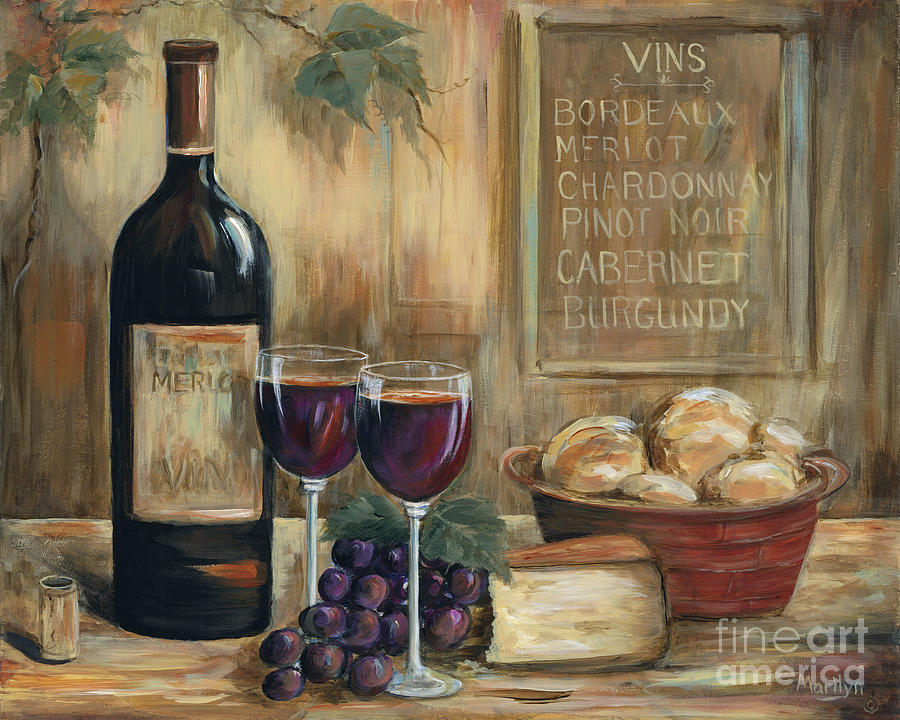 Still Life Oil Painting Wine For Two Canvas Art Landscape
