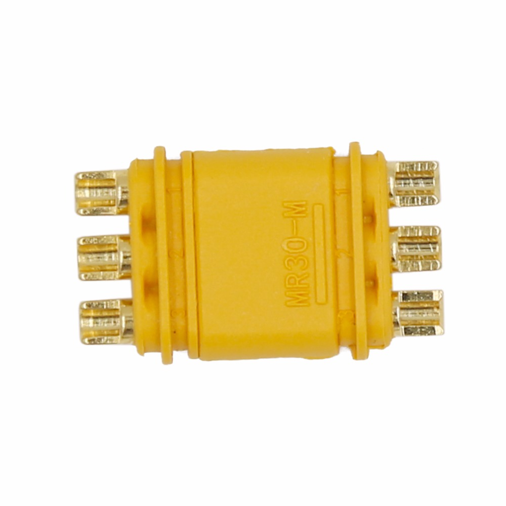 Image 5 - 100pairs Amass MR30 MR30 M Connector Plug Upgrated of XT30 Female & Male Gold Plated For RC Parts 40%Off-in Connectors from Lights & Lighting