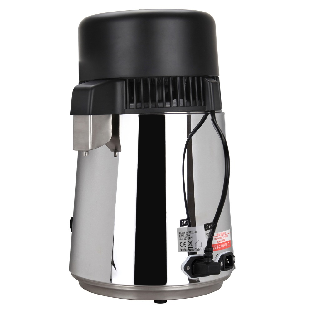 High Quality 4L Pure Water Stainless Steel Water Distiller Purifier Body Filter with Glass Jar - 2