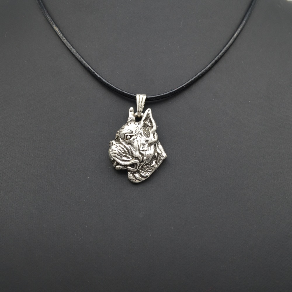 2017 Fashion Cute vintage 3D Boxer dog Pendant Choker women Necklace Trendy delicate charm gift Jewelry