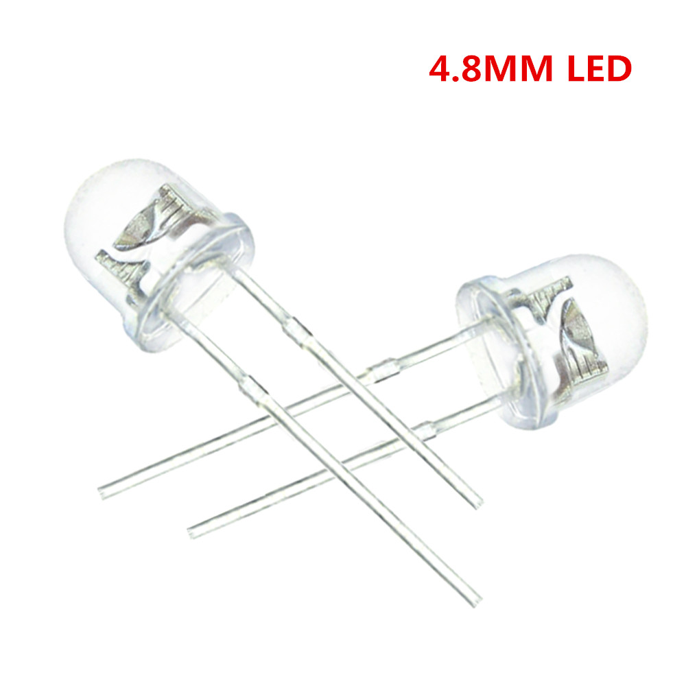 100 Pcs/lot Led 5mm Straw Hat White Leds Light Emitting Diodes 4.8mm Water Clear Ultra Bright Wide Angle Led