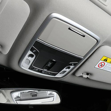 For Honda Accord 10th 2018 2019 ABS Matte Car front reading Lampshade panel Cover trim sticker car styling Accessories 1pcs for honda accord 10th 2018 2019 accessories abs chrome car front reading lampshade panel and glasses box cover trim car styling