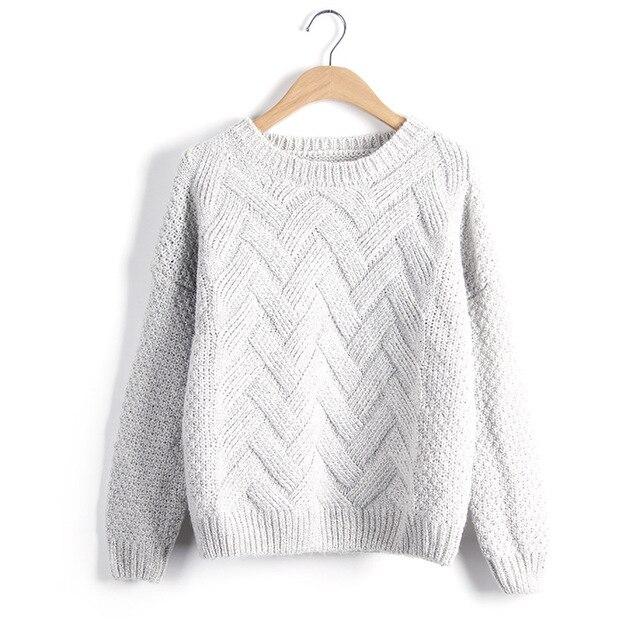 Loose Vintage Knited O-Neck Pullover  2