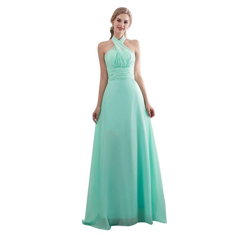 Ljepota-Emily Candy Boja Long-Line djeveruša haljine 2017 Off Sleeve - Vjenčanje večernje haljine - Foto 6