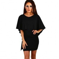 2017 BEFORW Sexy Women Dress Dresses Sexy Shoulder Flouncing Package Hip Slim Solid Color Fashion
