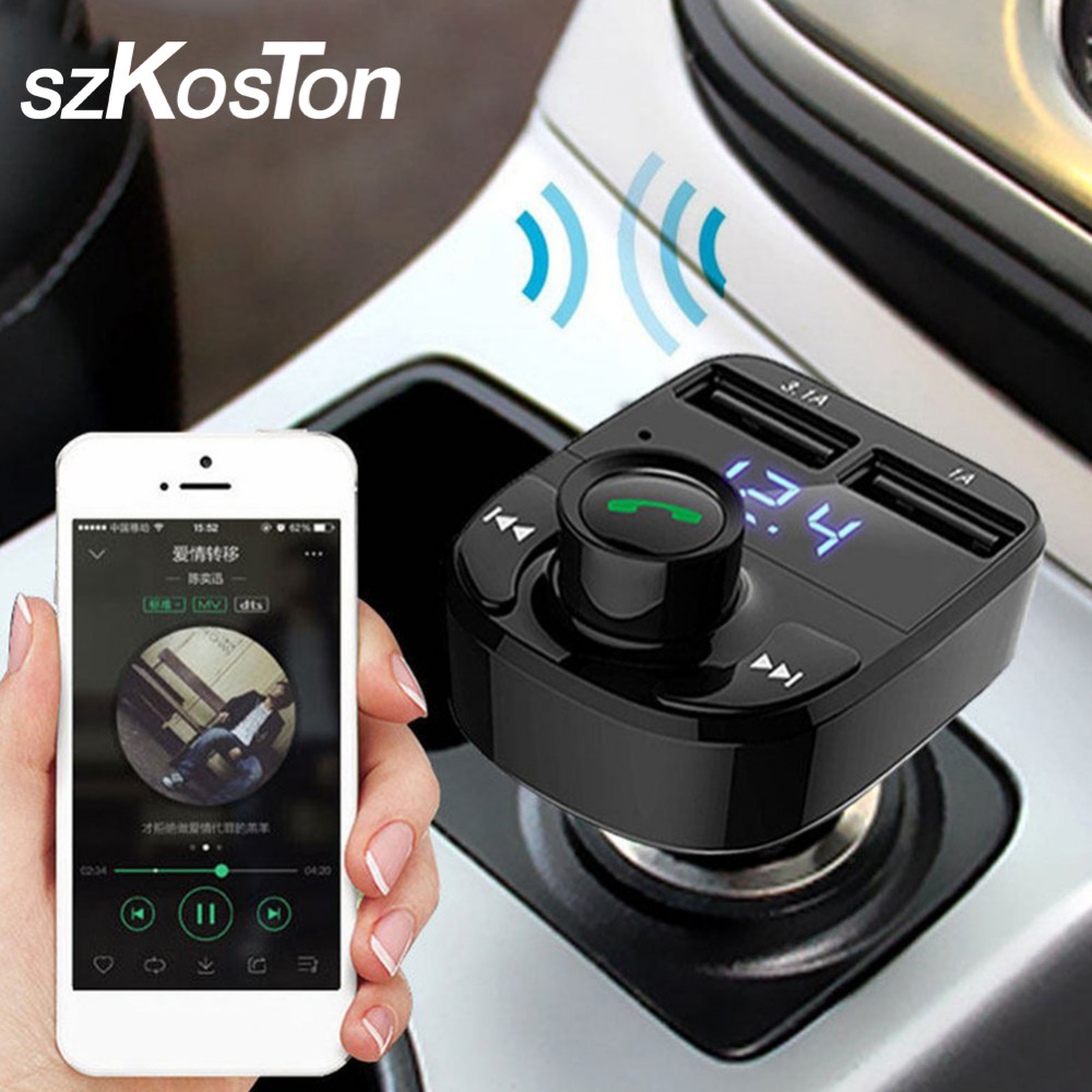 Business Wireless Bluetooth Car MP3 Player Dual USB Car Charger FM Transmitter Radio Kit LCD Display Support U Disk TF Card wireless fm transmitter stereo lcd broadcast radio station 1w to 7w u disk audio mp3 player