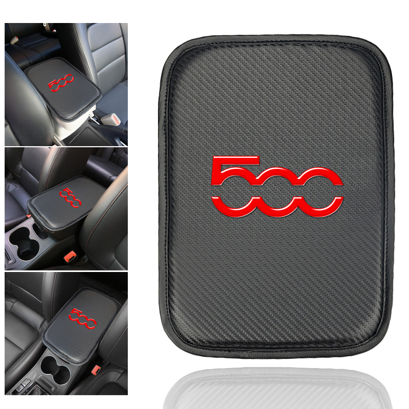 Car Armrest Box Cover Arm Rest Cushion Accessories For Fiat 500 Punto Abarth Stilo Ducato Decoration Protective Armrest Box Pad