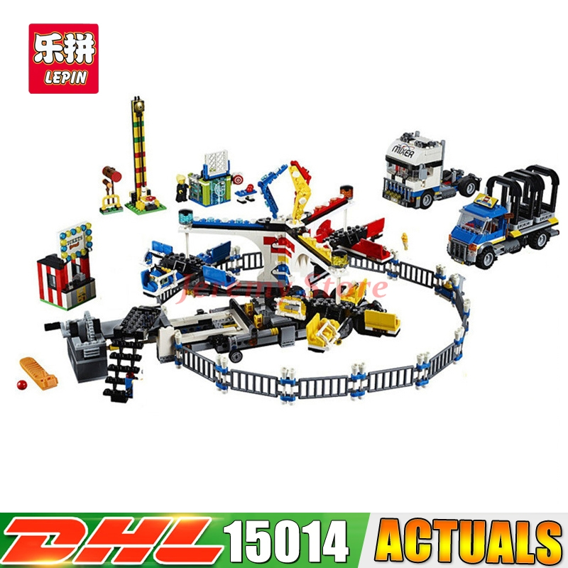 2017 LEPIN 15014 1858 PCS City Street Amusement park The Carnival Model Building Blocks Educational Brick Toys Compatible 10244 the state forest and park models humble park enlightenment bamboo cabin wood model kit architectural model material