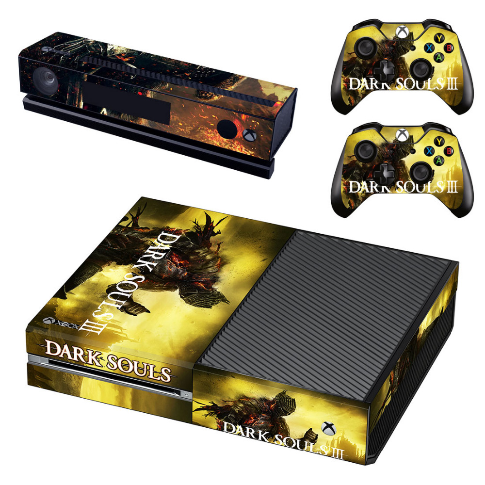 Dark Souls III Decal Skin Sticker for Microsoft Xbox One Kinect and Console and 2 Controllers Vinyl Game Stickers