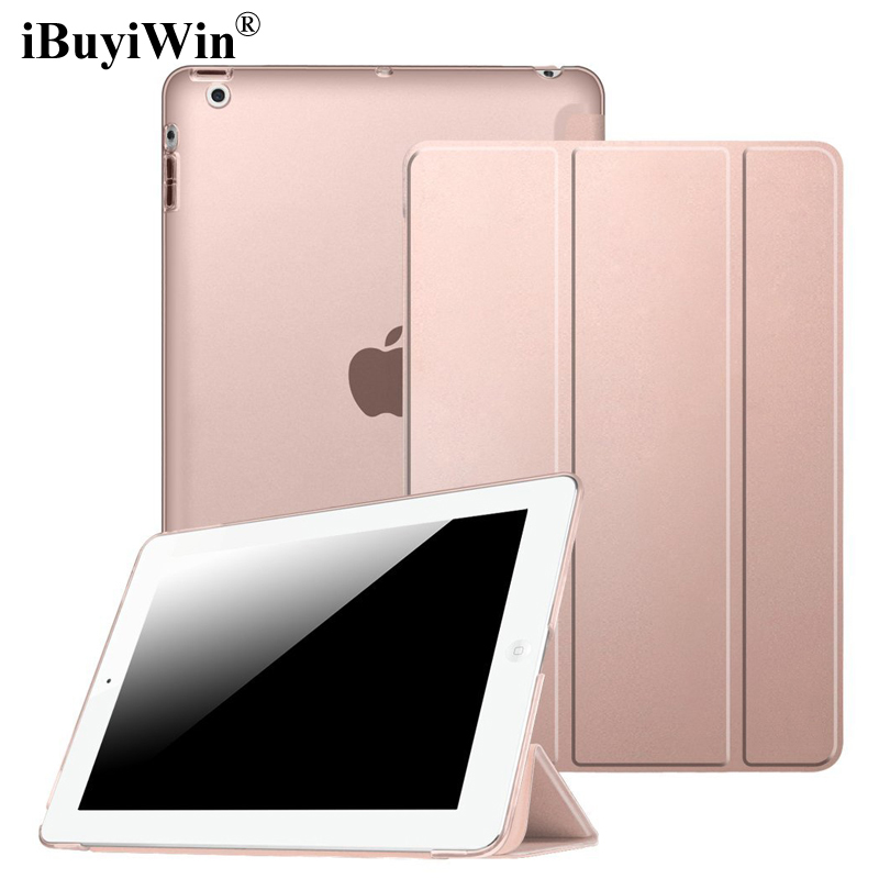 iBuyiWin Ultra Slim Smart Case for iPad 2 3 4 Stand PU Leather Case Folding Flip Magnetic Cover Auto Sleep/Wake+Screen Protector smart case for ipad mini 4 case transformer folding with stand slim pu leather transparent back cover for ipad mini4 7 9