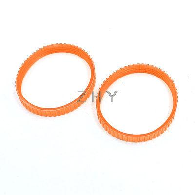 2pcs Electric Planer Drive Orange PU Belt Band for Hitachi F20 green orange transparent pu round belt polyurethane drive belt smooth and rough surface for sale