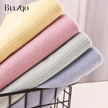 buulqo 50x175cm 32s 100% cotton  jacquard breathable fabric by half meter DIY sewing summer T-shirt dress making