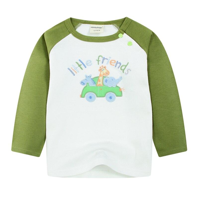 2018 Высокое качество для маленьких мальчиков футболка с длинными рукавами для малышей хлопковый топ футболка Дети милые Вышивка Крестом Кар...