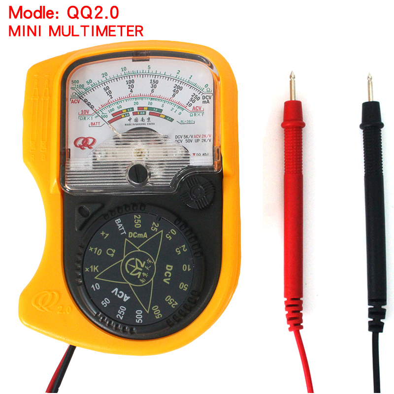 QQ2.0 Compact Analog Multimeter, AC/DC Voltage Current mini multimeter.Use for Home and Student applicable газовая плита simfer f66gw41001