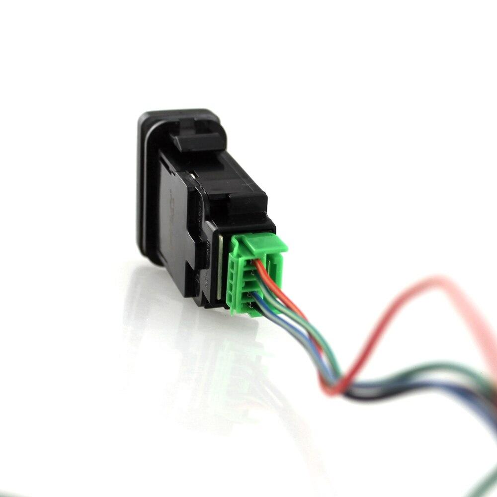 Push Switch 12V Car 4 Wiring Blue LED Light BAR Bar Car Light Bar ...