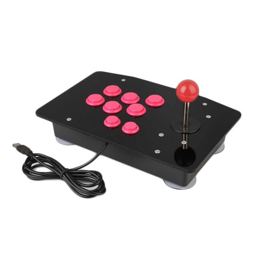 Universal Akrilik Pertempuran Arcade Stick Game Joystick Gamepad Video Game untuk PC Desktop