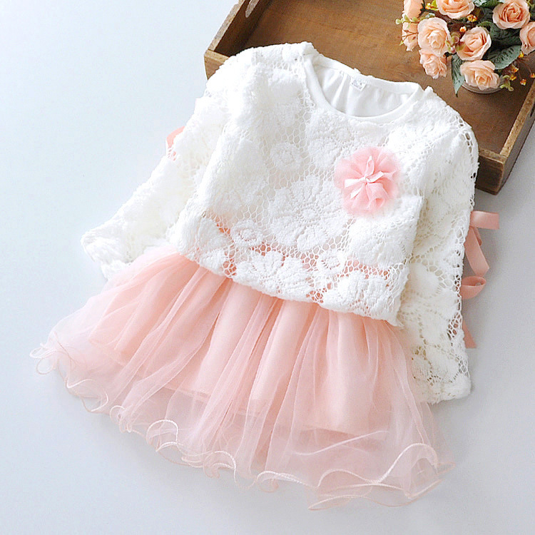 autumn new infant baby girl clothes lace flower newborn girls tutu dress for birthday party mesh patchwork princess vestido red 2017 kids clothes flower girl party dress baby birthday baptism lace tutu dresses for girls infant christening gown vestido 2 9y