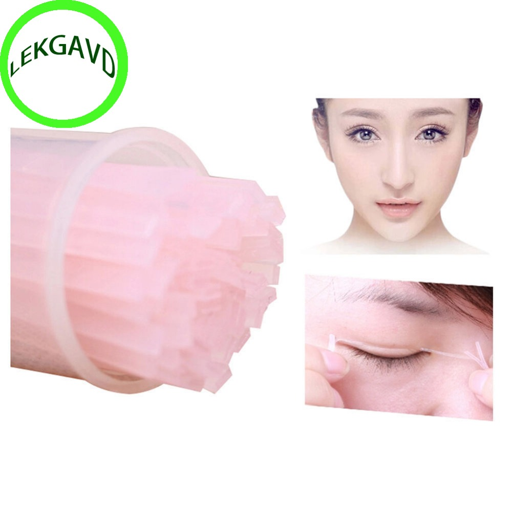 2 Bags Fiber Double Side Adhesive Invisible Eyelid Stickers Technical Eye Tapes 104 Pcs